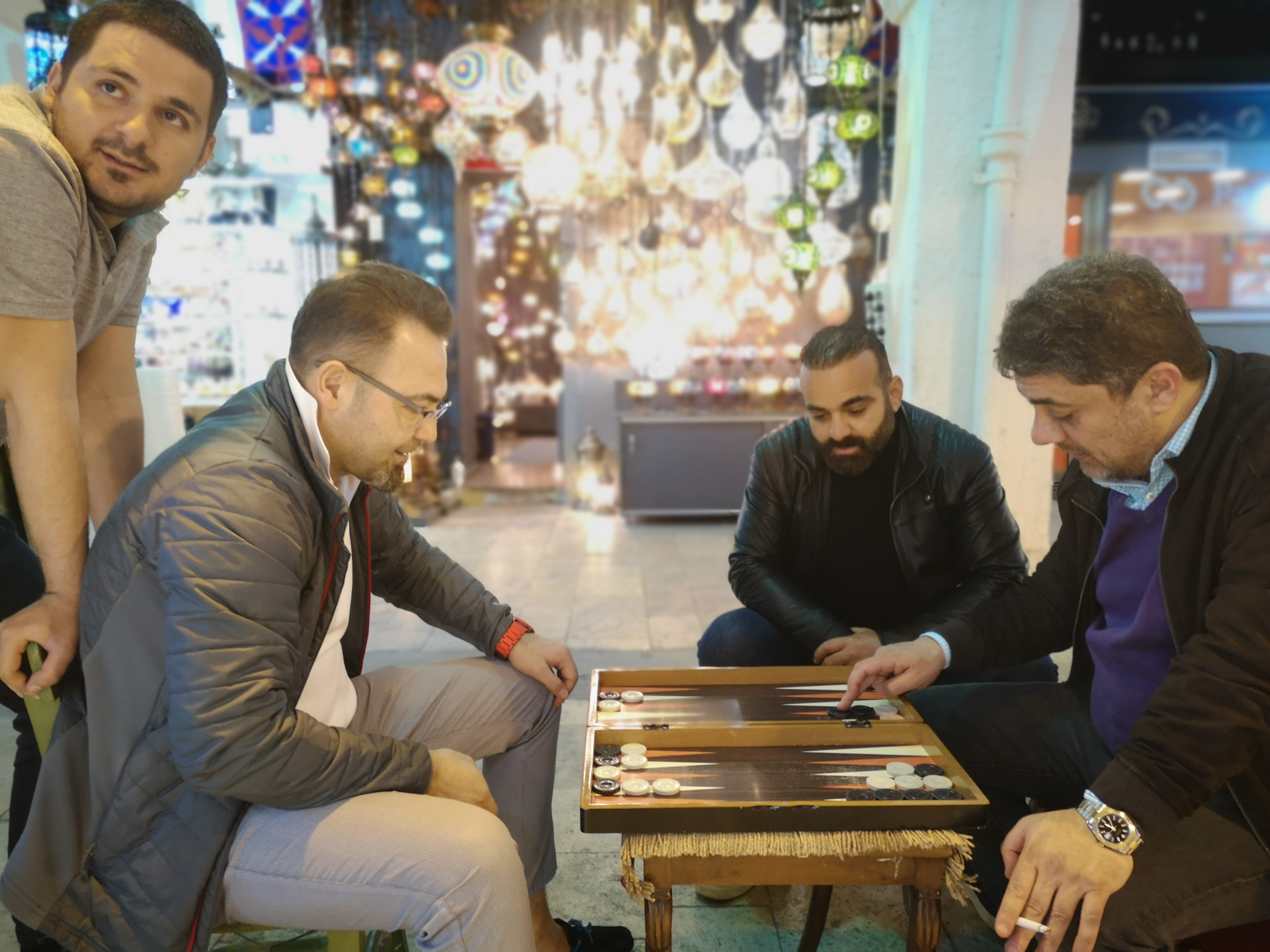 Turks Playing Backgammon in Istanbul